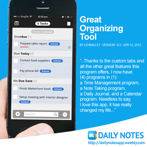 daily notes app_journal app_voice recorder app_reminders app